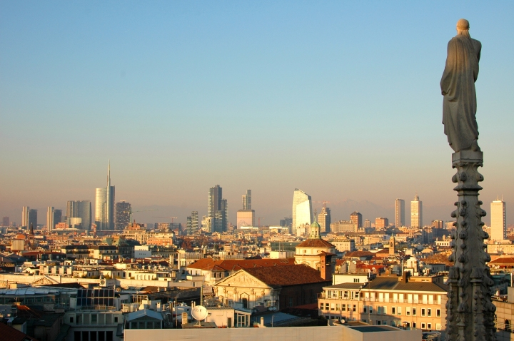 View over Milan from Duomo Terrace - Travel Notes on Milan, Italy