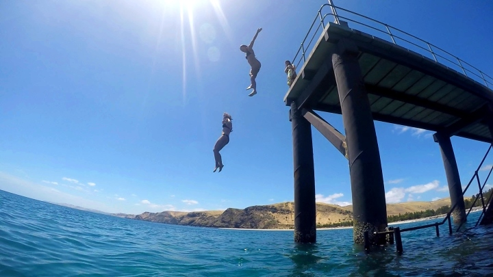 Jetty Jumping in Rapid Bay, Adelaide, South Australia